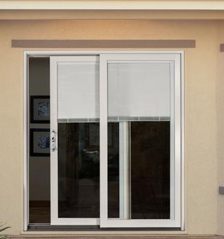 Builders Wood Sliding Patio Doors Clad Exterior Blinds Between The Glass
